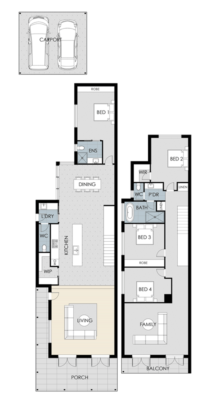 Floor plan for Semaphore Beach House