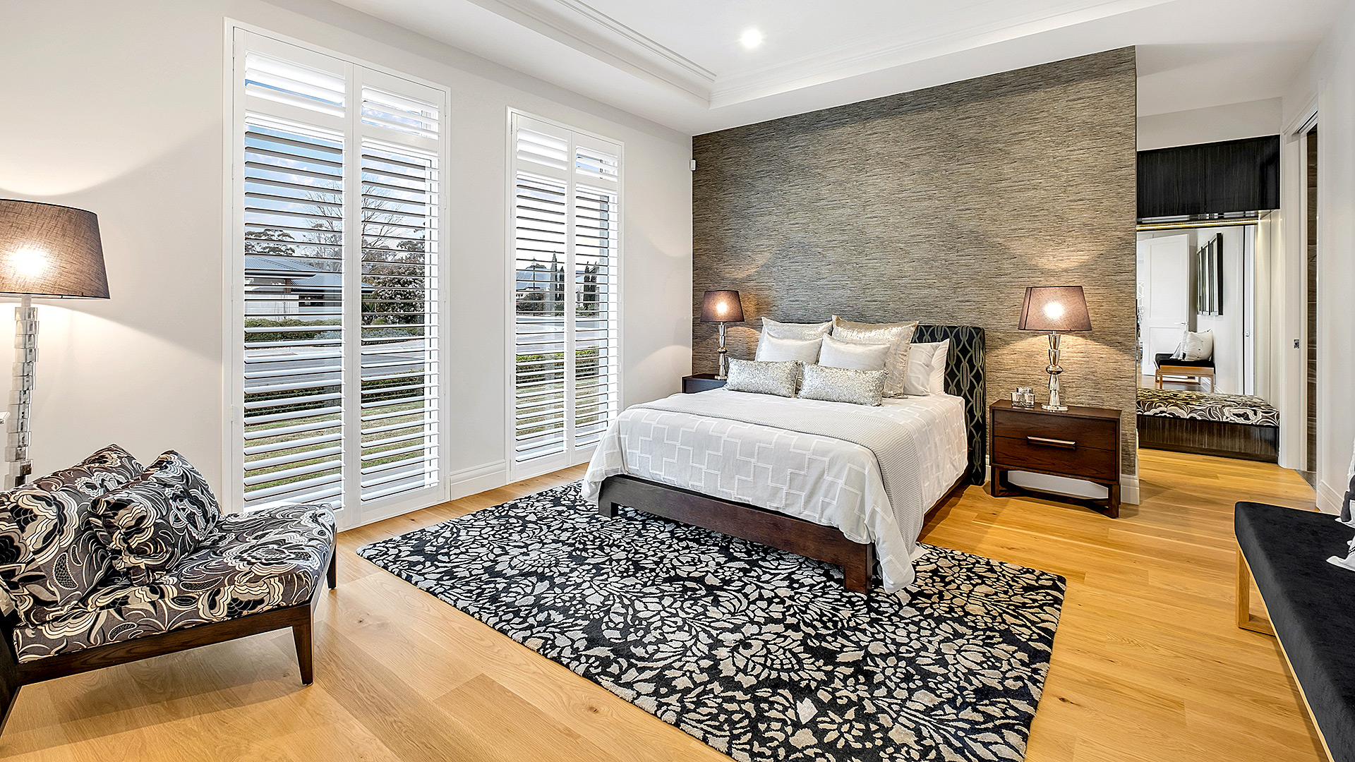 stunning image of the Master suite of the grand prize home