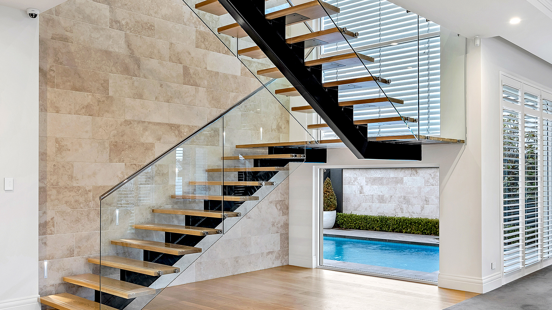 stunning image of the stair case of the grand prize home